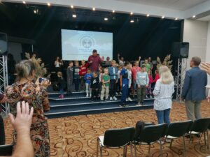 Общее богослужение на Южной стороне, служил пастор Олег Ильин